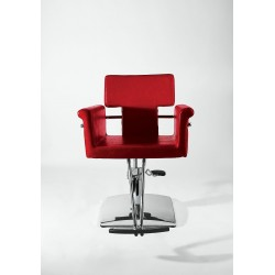 NICOLE - kadeřnické křeslo v červené, černé barvě
