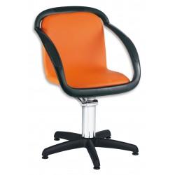 SAMA - oranžové křeslo s bílými opěrkami