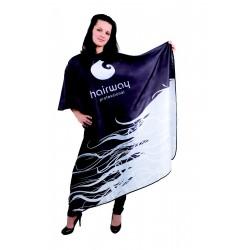 Stříhací pláštěnka dlouhá, černobílá