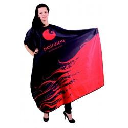Stříhací pláštěnka dlouhá červenočerná
