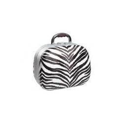 Kosmetický kufřík, ovál imitace kůže zebra