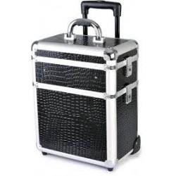 Kosmetický kufřík cestovní,třídílný černý+ALU